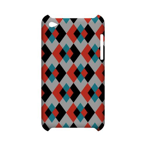 Double Diamond Vision - Geeks Designer Line Checker Series Hard Case for Apple iPod Touch 4