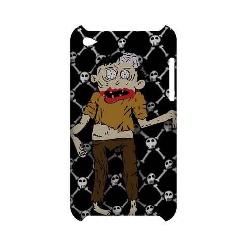 Zombie w/Skull & Crossbones - Geeks Designer Line (GDL) Monster Mash Series Hard Back Cover for Apple iPod Touch 4