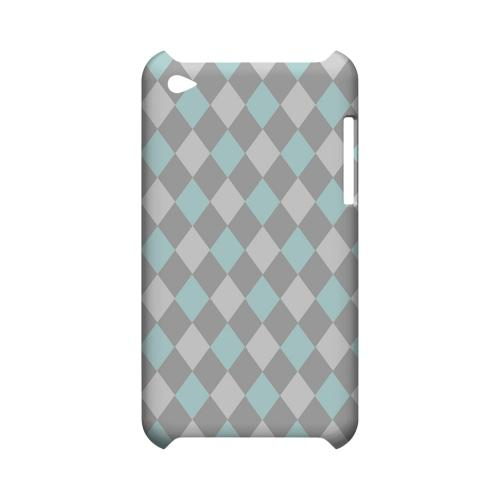 Pink/ Blue/ Gray Argyle - Geeks Designer Line Checker Series Hard Case for Apple iPod Touch 4