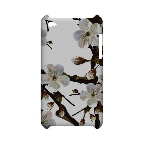 White Cherry Blossom - Geeks Designer Line Floral Series Hard Case for Apple iPod Touch 4