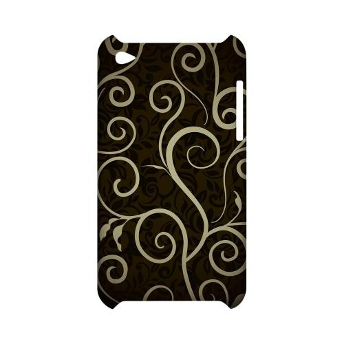 Elegant Dark Vines - Geeks Designer Line Floral Series Hard Case for Apple iPod Touch 4