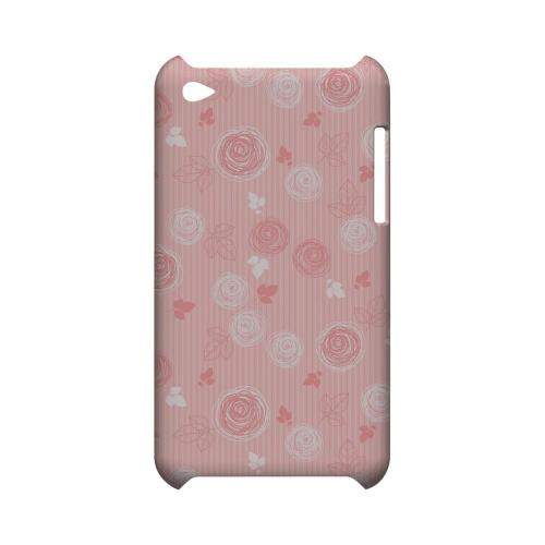 Leaves Scribble Pinkish - Geeks Designer Line Floral Series Hard Case for Apple iPod Touch 4