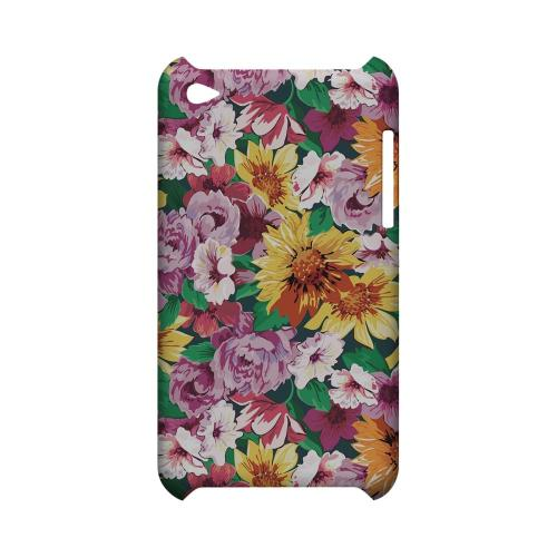 Pink/ Orange Flowers - Geeks Designer Line Floral Series Hard Case for Apple iPod Touch 4