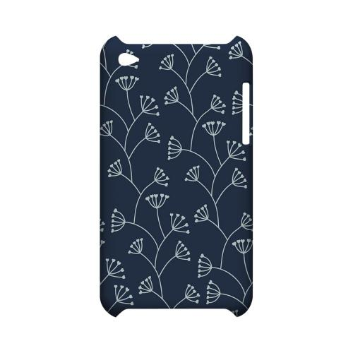 Simple Blue - Geeks Designer Line Floral Series Hard Case for Apple iPod Touch 4