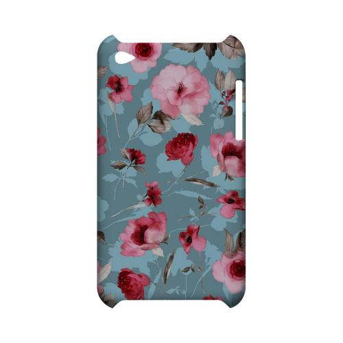 Vintage Watercolor Roses - Geeks Designer Line Floral Series Hard Case for Apple iPod Touch 4