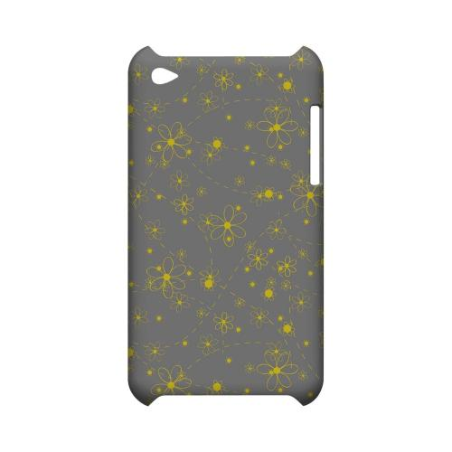 Yellow Daisies on Gray - Geeks Designer Line Floral Series Hard Case for Apple iPod Touch 4