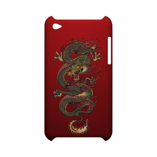Dragon on Red Gradient - Geeks Designer Line Tattoo Series Hard Case for Apple iPod Touch 4