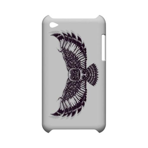 Flying Owl on White - Geeks Designer Line Tattoo Series Hard Case for Apple iPod Touch 4