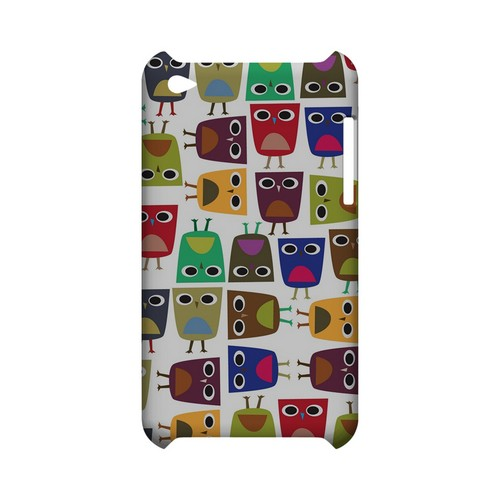 Quadrilateral Owl Configuration - Geeks Designer Line (GDL) Owl Series Hard Back Cover for Apple iPod Touch 4