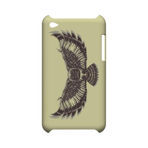 Flying Owl on Yellow - Geeks Designer Line Tattoo Series Hard Case for Apple iPod Touch 4