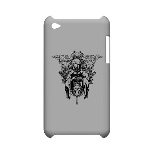 Inkfection on Gray - Geeks Designer Line Tattoo Series Hard Case for Apple iPod Touch 4
