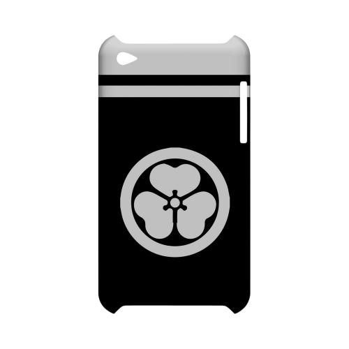 White Katabami Kamon w/ Stripe v.1 - Geeks Designer Line Tattoo Series Hard Case for Apple iPod Touch 4