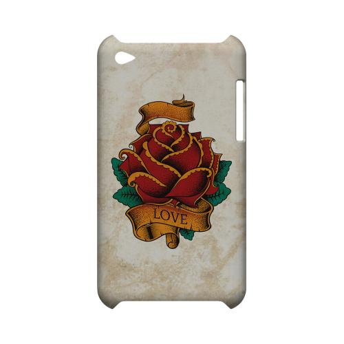 Love Rose - Geeks Designer Line Tattoo Series Hard Case for Apple iPod Touch 4