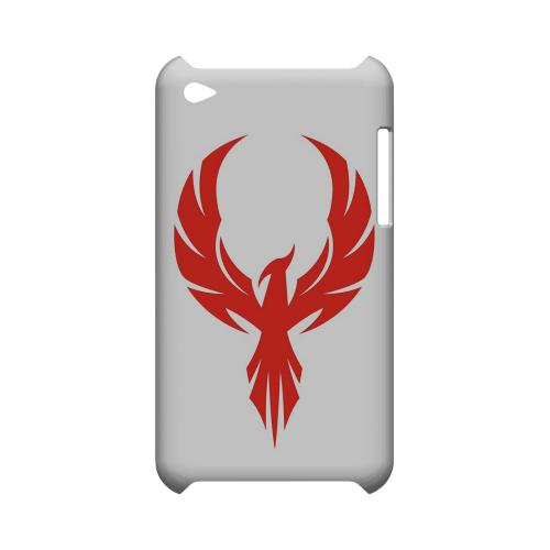Phoenix Red on White - Geeks Designer Line Tattoo Series Hard Case for Apple iPod Touch 4
