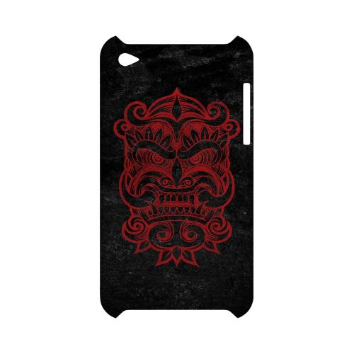 Red Devil Mask - Geeks Designer Line Tattoo Series Hard Case for Apple iPod Touch 4