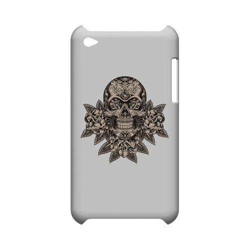 Skull Roses - Geeks Designer Line Tattoo Series Hard Case for Apple iPod Touch 4
