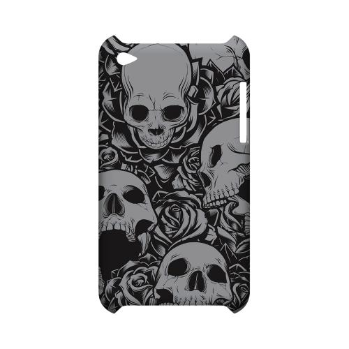 Skulls Rose Gray - Geeks Designer Line Tattoo Series Hard Case for Apple iPod Touch 4