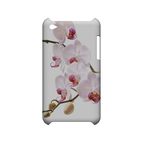 White Pink Orchid - Geeks Designer Line Floral Series Hard Case for Apple iPod Touch 4