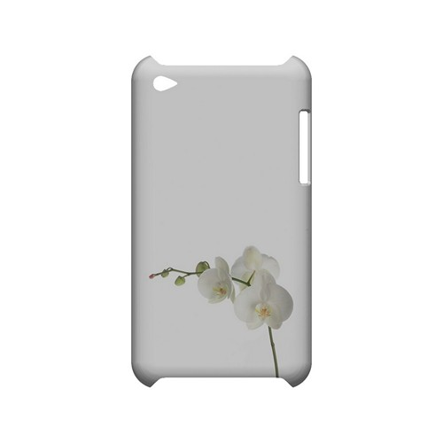 Simple White Orchid - Geeks Designer Line Floral Series Hard Case for Apple iPod Touch 4
