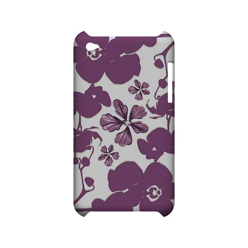 Purple Orchids - Geeks Designer Line Floral Series Hard Case for Apple iPod Touch 4