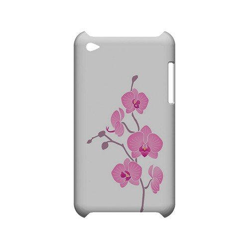 Pink Minimal Orchid Art - Geeks Designer Line Floral Series Hard Case for Apple iPod Touch 4