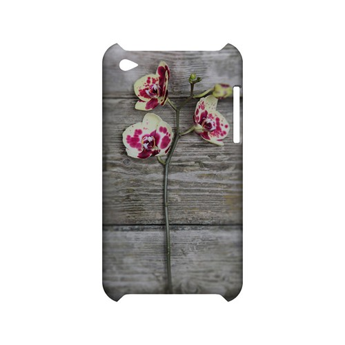 Orchid on Wood - Geeks Designer Line Floral Series Hard Case for Apple iPod Touch 4