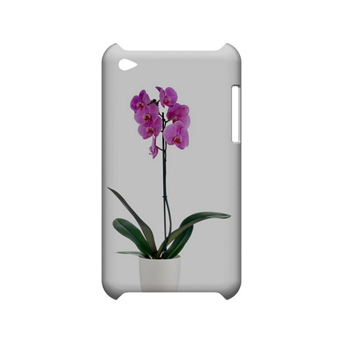 Hot Pink Orchid Plant - Geeks Designer Line Floral Series Hard Case for Apple iPod Touch 4