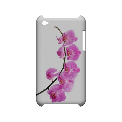 Hot Pink Orchid Curved Branch - Geeks Designer Line Floral Series Hard Case for Apple iPod Touch 4
