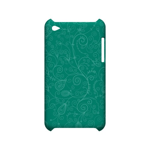 Floral 1 Emerald - Geeks Designer Line Pantone Color Series Hard Case for Apple iPod Touch 4