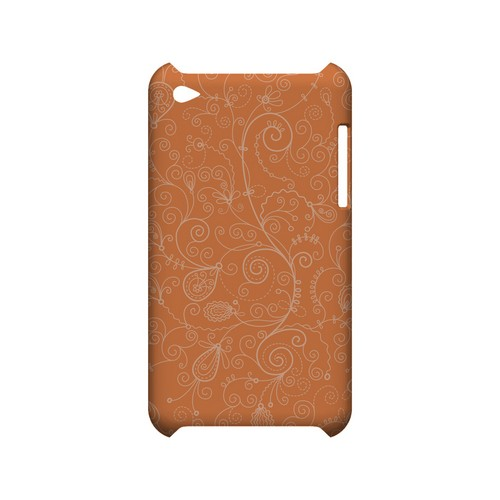 Floral 1 Nectarine - Geeks Designer Line Pantone Color Series Hard Case for Apple iPod Touch 4