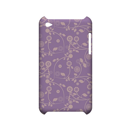 Floral 2 African Violet - Geeks Designer Line Pantone Color Series Hard Case for Apple iPod Touch 4