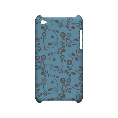 Floral 2 Dusk Blue - Geeks Designer Line Pantone Color Series Hard Case for Apple iPod Touch 4