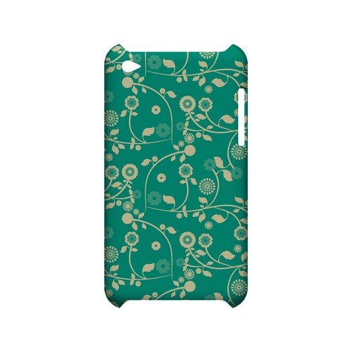 Floral 2 Emerald - Geeks Designer Line Pantone Color Series Hard Case for Apple iPod Touch 4