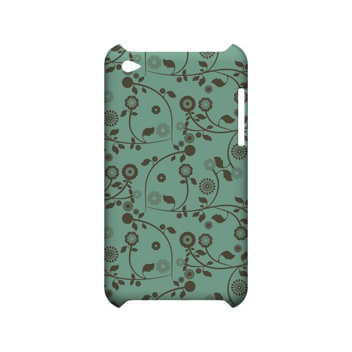Floral 2 Grayed Jade - Geeks Designer Line Pantone Color Series Hard Case for Apple iPod Touch 4