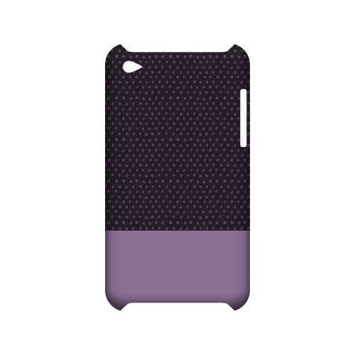 Little Circle Dots African Violet - Geeks Designer Line Pantone Color Series Hard Case for Apple iPod Touch 4