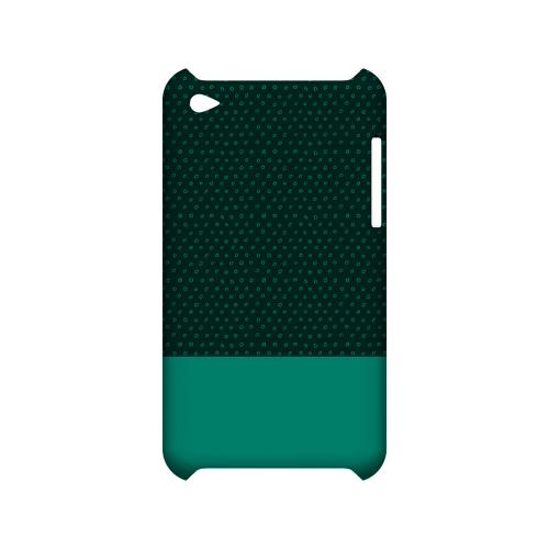 Little Circle Dots Emerald - Geeks Designer Line Pantone Color Series Hard Case for Apple iPod Touch 4