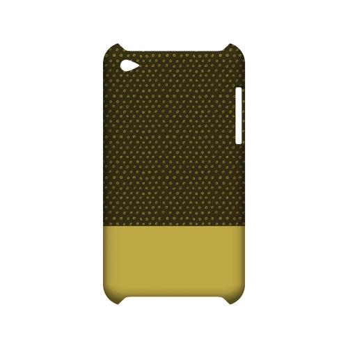 Little Circle Dots Lemon Zest - Geeks Designer Line Pantone Color Series Hard Case for Apple iPod Touch 4