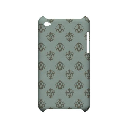 Ornamental Dusk Blue - Geeks Designer Line Pantone Color Series Hard Case for Apple iPod Touch 4