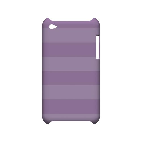 Stripes African Violet - Geeks Designer Line Pantone Color Series Hard Case for Apple iPod Touch 4