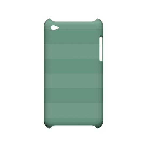 Stripes Grayed Jade - Geeks Designer Line Pantone Color Series Hard Case for Apple iPod Touch 4