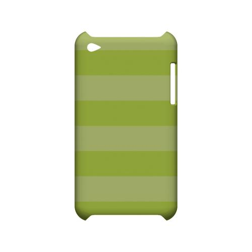 Stripes Tender Shoots - Geeks Designer Line Pantone Color Series Hard Case for Apple iPod Touch 4