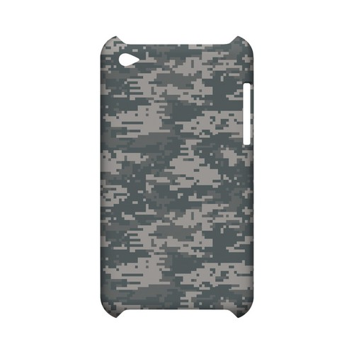 Gray Digital Camouflage - Geeks Designer Line Slim Back Cover for Apple iPod Touch 4