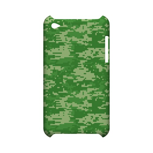 Green Digital Camouflage - Geeks Designer Line Slim Back Cover for Apple iPod Touch 4