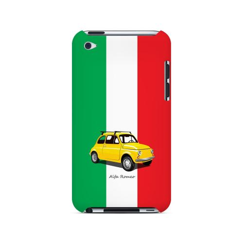 Yellow Alfa Romeo on Green/ White/ Red - Geeks Designer Line Auto Series Hard Case for Apple iPod Touch 4