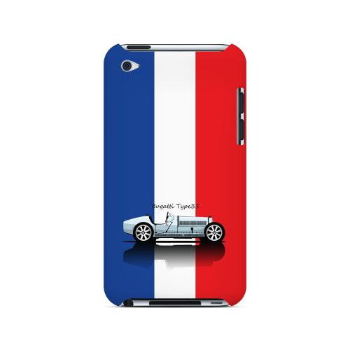 Bugatti Type 35S on Blue/ White/ Red - Geeks Designer Line Auto Series Hard Case for Apple iPod Touch 4