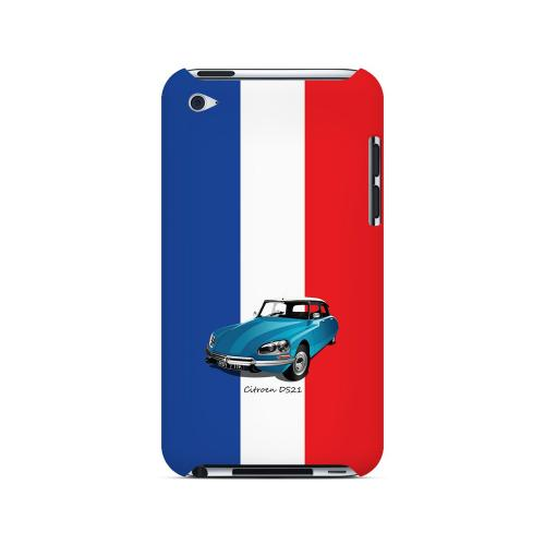 Citroen DS21 on Blue/ White/ Red - Geeks Designer Line Auto Series Hard Case for Apple iPod Touch 4