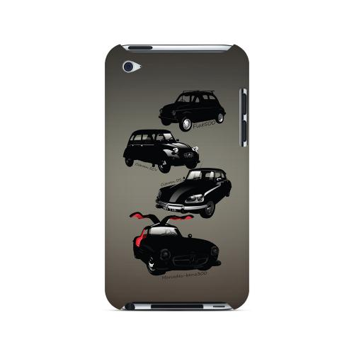 Classic Euro Cars Fade - Geeks Designer Line Auto Series Hard Case for Apple iPod Touch 4