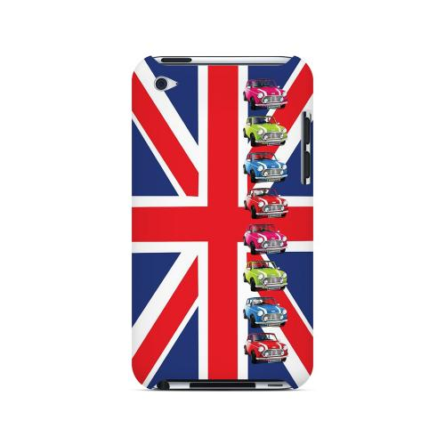 Multi Mini Coopers on Union Jack - Geeks Designer Line Auto Series Hard Case for Apple iPod Touch 4