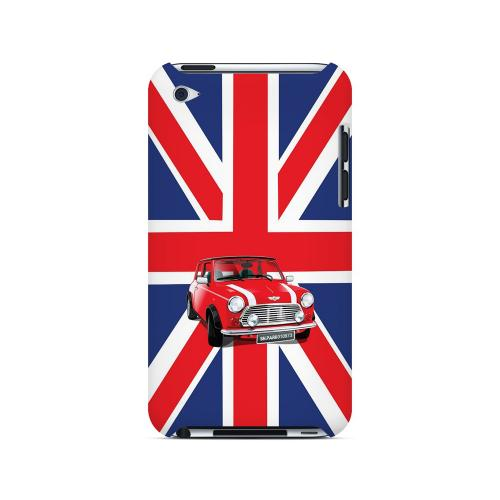 Solo Mini Cooper on Union Jack - Geeks Designer Line Auto Series Hard Case for Apple iPod Touch 4