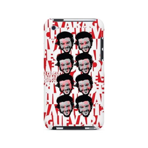 Che Guevara Happy Revolutionary Multi-Face on Red - Geeks Designer Line Revolutionary Series Hard Case for Apple iPod Touch 4